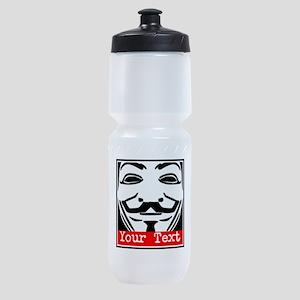 Custom Guy Fawkes Sports Bottle