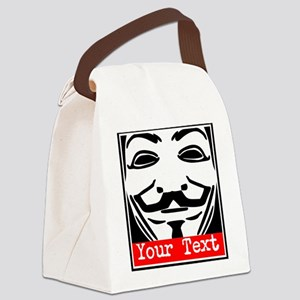 Custom Guy Fawkes Canvas Lunch Bag