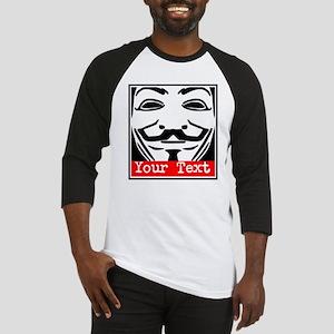 Custom Guy Fawkes Baseball Jersey