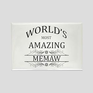 World's Most Amazing Memaw Rectangle Magnet