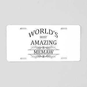 World's Most Amazing Memaw Aluminum License Plate
