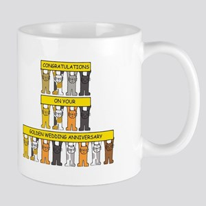 Golden Wedding Anniversary Mugs