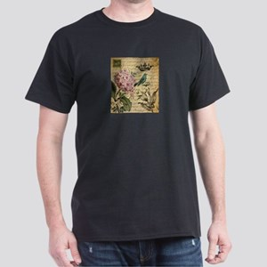 paris hydrangea butterfly french botanical art T-S