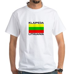 Klaipeda, Lithuania White T-Shirt