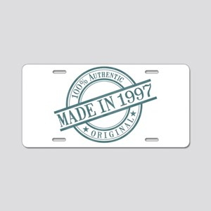 Made in 1997 Aluminum License Plate