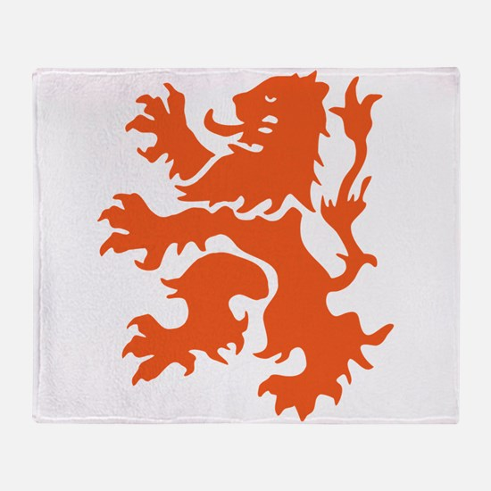 Netherlands Lion Throw Blanket