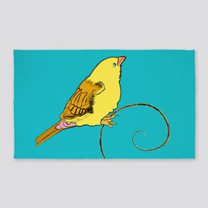 Yellow Bird 3'x5' Area Rug