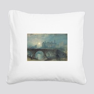 Turner Alnwick Castle Square Canvas Pillow
