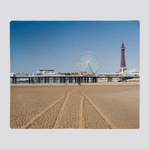 Blackpool central pier Throw Blanket