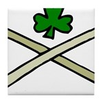 Shamrock and Pipes Tile Coaster