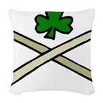 Shamrock and Pipes Woven Throw Pillow