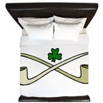 Shamrock and Pipes King Duvet