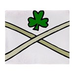 Shamrock and Pipes Throw Blanket