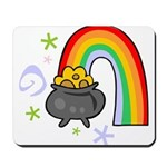 Rainbow with Crock of Gold Mousepad