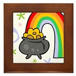 Rainbow with Crock of Gold Framed Tile