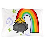 Rainbow with Crock of Gold Pillow Case