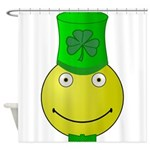 Smiley with Shamrock Shower Curtain