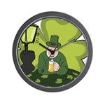 St Patricks Day Man with Beer Wall Clock