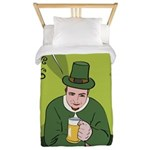 St Patricks Day Man with Beer Twin Duvet