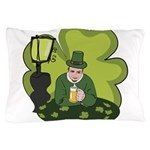 St Patricks Day Man with Beer Pillow Case