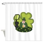 St Patricks Day Man with Beer Shower Curtain