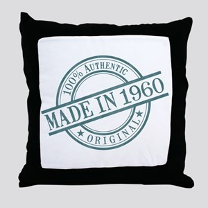 Made in 1960 Throw Pillow