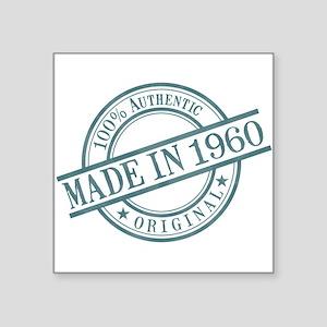 "Made in 1960 Square Sticker 3"" x 3"""