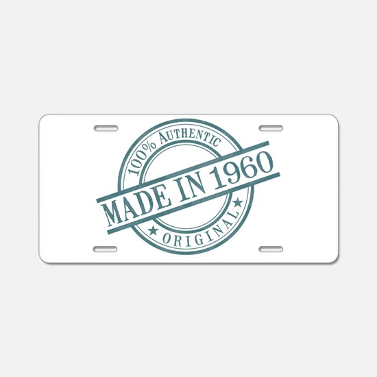 Made in 1960 Aluminum License Plate