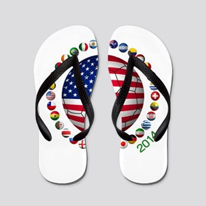 USA soccer Flip Flops