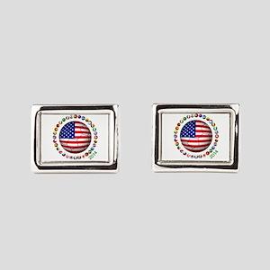 USA soccer Rectangular Cufflinks