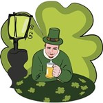 St Patricks Day Man with Beer York Wall Coverings
