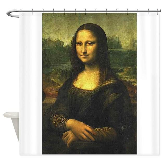 Mona shower curtain by bluesyworld for Mona lisa shower curtain