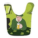 St Patricks Day Man with Beer Bib