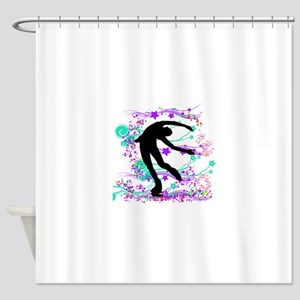 litdarkskaterspin Shower Curtain