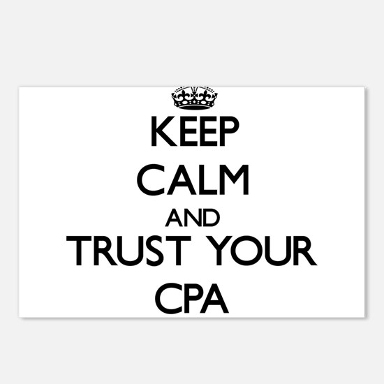 Keep Calm and Trust Your Cpa Postcards (Package of