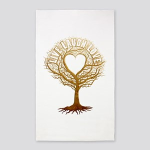 Live Laugh Love Tree 3'x5' Area Rug