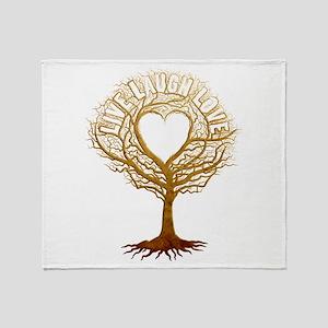 Live Laugh Love Tree Throw Blanket
