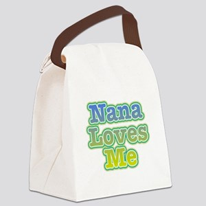 Nana Loves Me Canvas Lunch Bag