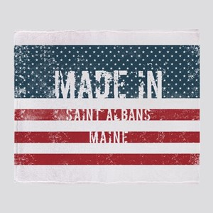 Made in Saint Albans, Maine Throw Blanket