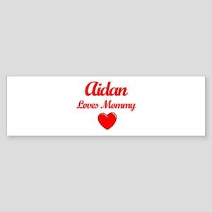 Aidan Loves Mommy Bumper Sticker