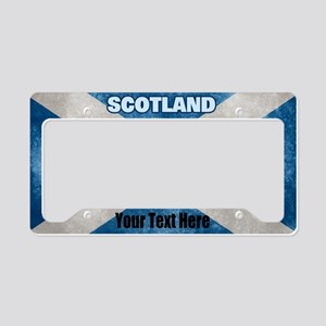 Flag Of Scotland License Plate Holder