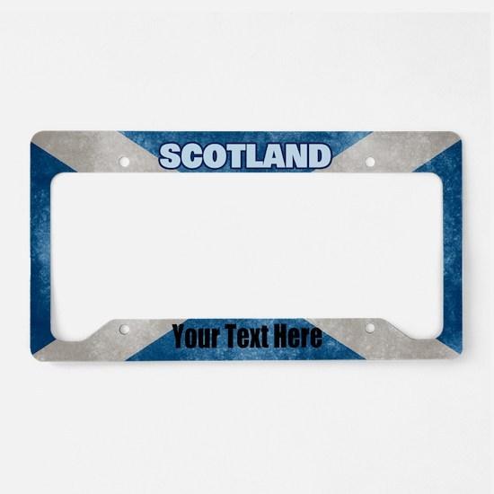 Flag Of Scotland License Plate Holder
