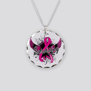Surviving Since 1980 Breast Necklace Circle Charm