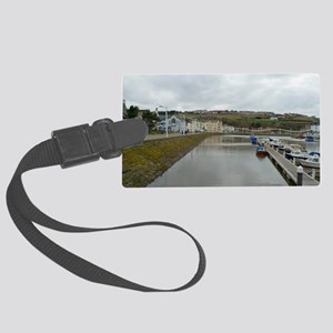 Whitehaven harbour Large Luggage Tag