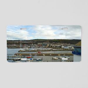 Whitehaven harbour Aluminum License Plate