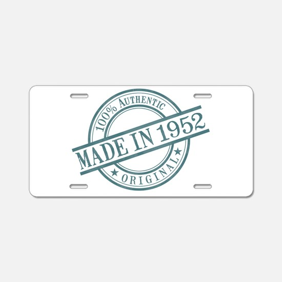 Made in 1952 Aluminum License Plate