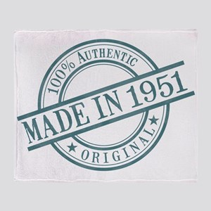 Made in 1951 Throw Blanket