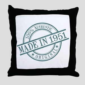 Made in 1951 Throw Pillow