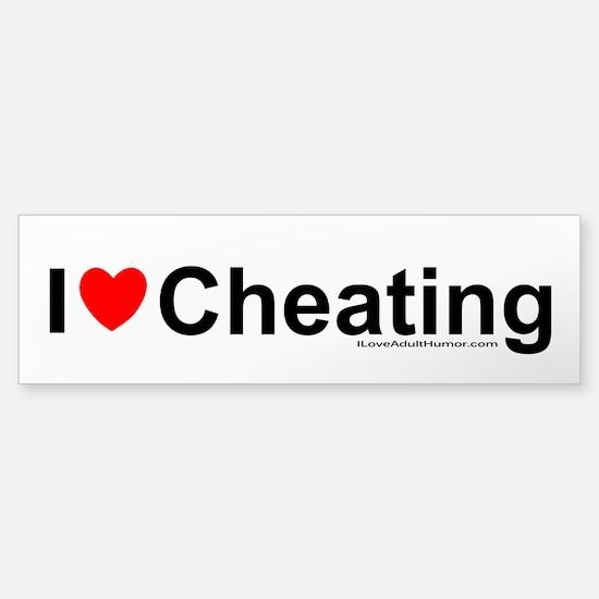 Cheating Sticker (Bumper)