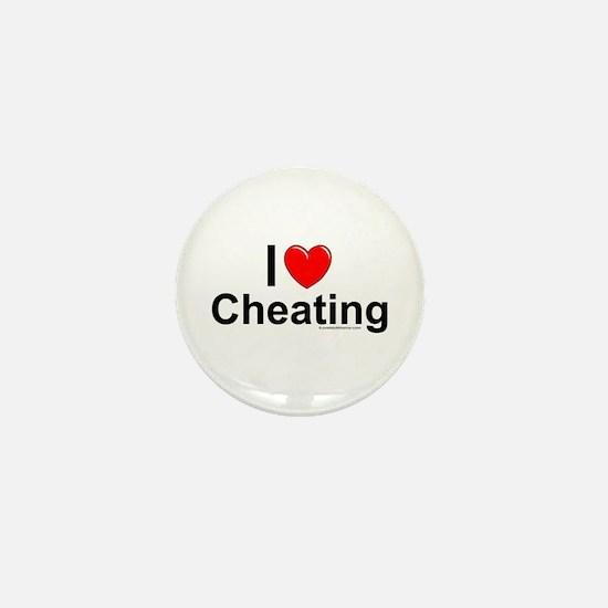 Cheating Mini Button